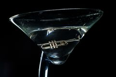 Jazz Club Trumpet Martini photos libres de droits