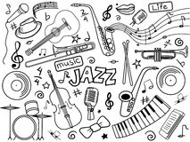 Jazz colorless set vector Stock Image