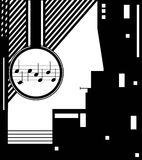 Jazz concept, city night music, night music club idea,. Vector Stock Images