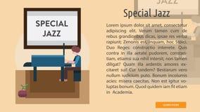 Jazz Conceptual Banner spéciale illustration libre de droits