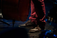 Jazz concert. Artist shoes in the stage of a Jazz concert Stock Photo