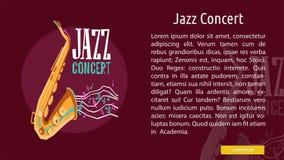 Jazz Concert Conceptual Banner illustration stock