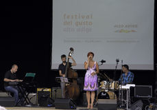Jazz concert at the festival del  gusto Stock Photo