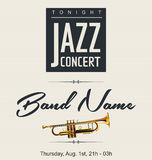 Jazz concert poster Royalty Free Stock Photography