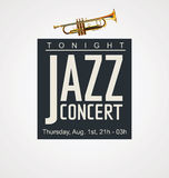 Jazz concert poster Stock Photography
