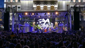 Jazz concert. TIMISOARA, ROMANIA - JULY 2, 2016: Scenes from concerts at the ,,Jazz TM, International Jazz Festival - Fourth Edition, from July 1 to 3, 2016 stock footage