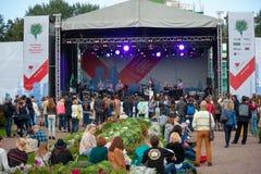 Jazz Dance Orchestra performs at Usadba Jazz Festival Stock Photo
