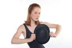 Jazz Dancer with Bowler Royalty Free Stock Image