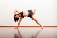 Jazz dancer in a dance academy Stock Images