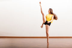 Jazz dancer performing a routine Royalty Free Stock Photos