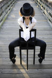 Jazz dancer Sitting on Chair Stock Photos