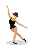 Jazz Dancer Tap Dance, Jitterbug, Swing, Lindy Hop Royalty Free Stock Images