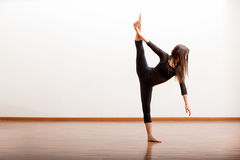 Jazz dancer trying some new moves Stock Photography