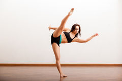 Jazz dancer warming up Royalty Free Stock Photos