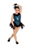 Jazz Dancing Child in Harlequin Recital Costume Royalty Free Stock Images