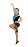 Jazz Dancing Girl Mid Step stock photo
