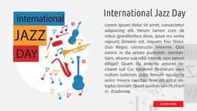 Jazz Day Conceptual Banner internationale Photographie stock
