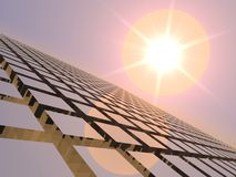 Jazz de coucher du soleil au-dessus de réseau de cube Photo libre de droits