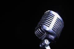 Jazz de vieux type/microphon de bleus Photos libres de droits