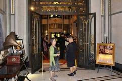 Jazz del té de domingo en el jazz del hotel de la paz en Shanghaii fotos de archivo