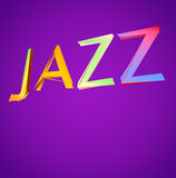 Jazz Design. Jazz text art in bright colors. Clipping path included for easy selection Royalty Free Stock Photography