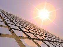 Jazz di tramonto sopra la griglia del cubo Fotografia Stock Libera da Diritti