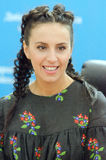 Jazz on the Dnieper. DNIPRO, UKRAINE - SEPTEMBER  10, 2016: Famous Ukrainian singer Jamala during a press conference at the  festival Jazz on the Dnieper Royalty Free Stock Images