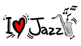 Jazz do amor ilustração stock
