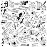 Jazz - doodles Στοκ Εικόνες