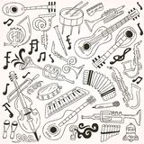 Jazz - doodles Royalty Free Stock Image