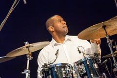 Jazz drummer David Haynes at Kaunas Jazz 2015 Stock Image