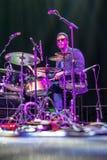 Jazz drummer Emanuel Harrold  at Kaunas Jazz 2015 Stock Images