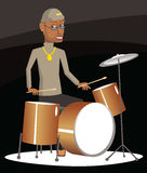 Jazz drummer Stock Images