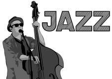 Jazz dubbele baarzen twee stock illustratie