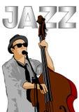 Jazz dubbele bas  royalty-vrije illustratie