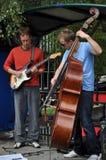 Jazz-Duo, Christchurch-Künste zentrieren, Neuseeland Lizenzfreie Stockfotografie