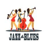 Jazz e azuis Fotos de Stock