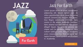 Jazz For Earth Conceptual Banner Photographie stock libre de droits
