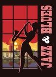 Jazz et bleus illustration de vecteur