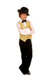 jazz för pojkedräktdansare Royaltyfri Foto