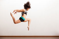 Jazz female dancer in the air Royalty Free Stock Photography