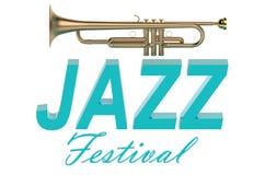 Jazz Festival concept. Isolated on white background Stock Photo