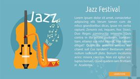 Jazz Festival Conceptual Banner Photo stock