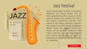 Jazz Festival Conceptual Banner Photographie stock
