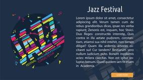 Jazz Festival Conceptual Banner Images libres de droits