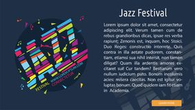 Jazz Festival Conceptual Banner illustration stock