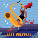 Jazz festival. Royalty Free Stock Image