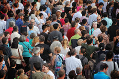 Jazz festival Crowd in Montreal Stock Image