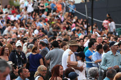 Jazz festival Crowd in Montreal royalty free stock images