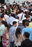 Jazz festival Crowd in Montreal Royalty Free Stock Photo